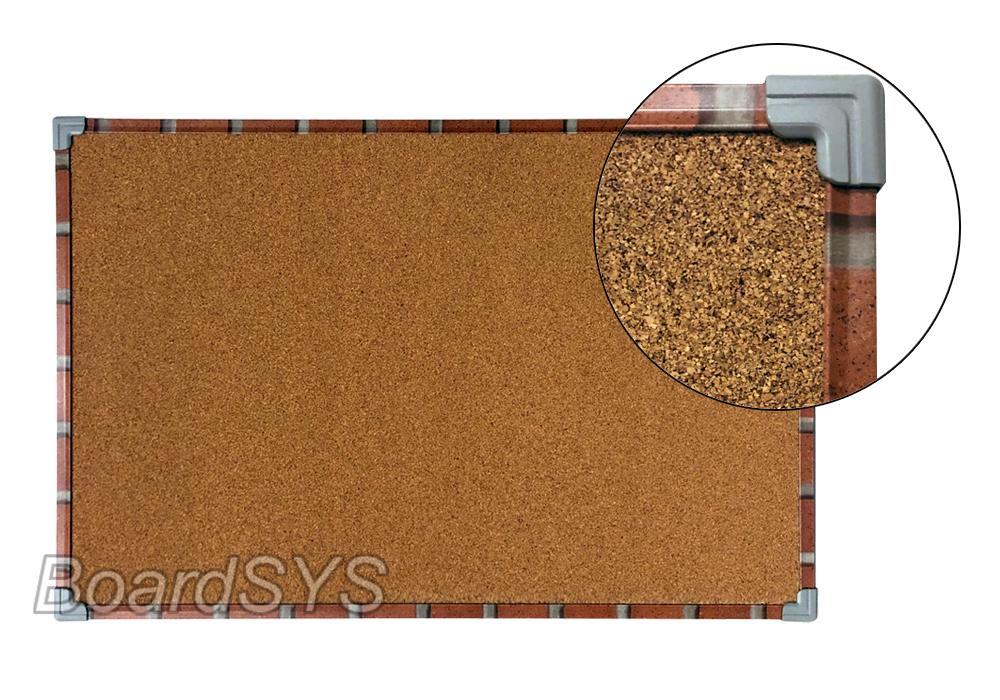 Доска пробковая 100х60 в текстурном металлическом профиле
