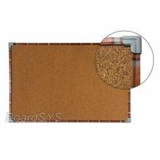 Доска пробковая 100х150 в текстурном металлическом профиле