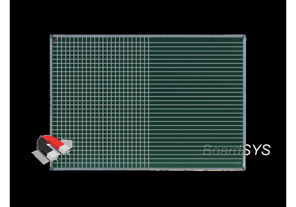 Разлинованная одноэлементная магнитно-меловая доска доска 100х150 - алюминиевый профиль