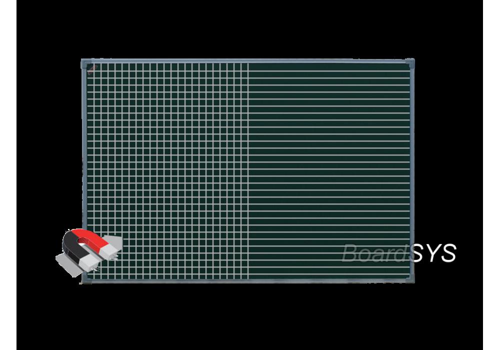 Разлинованная одноэлементная магнитно-меловая доска доска 100х150 - металлический профиль