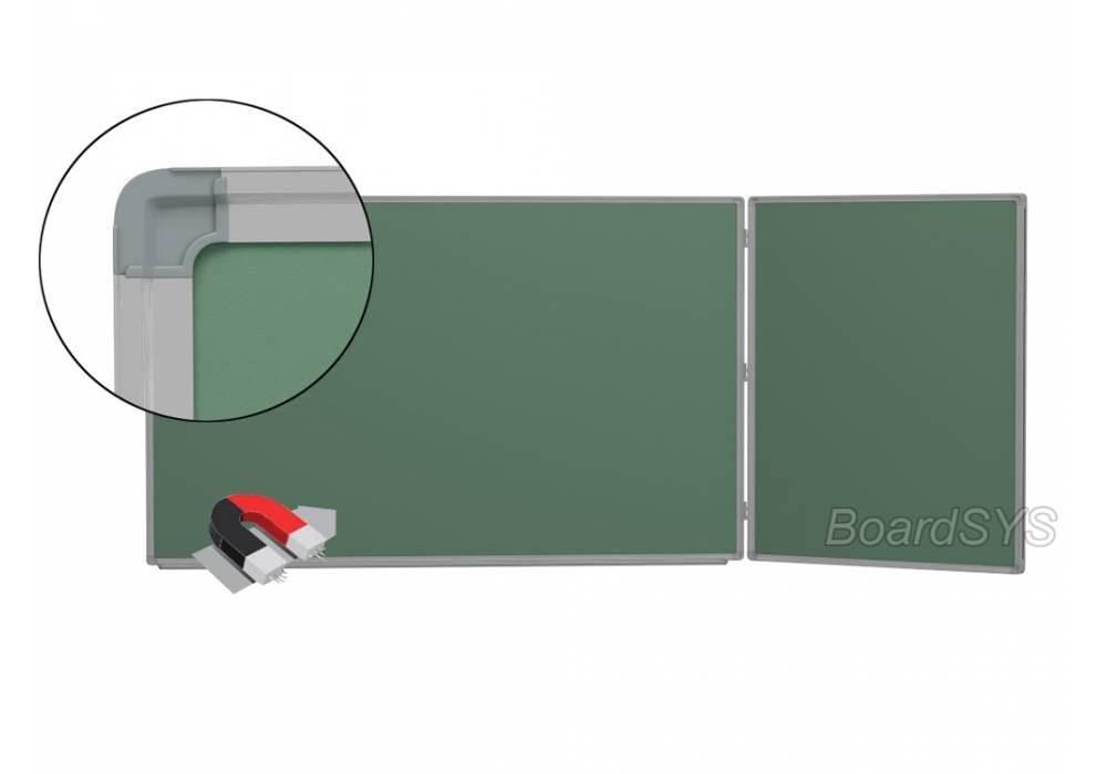 Двухэлементная магнитно-меловая доска доска 120х255 - алюминиевый профиль створка справа