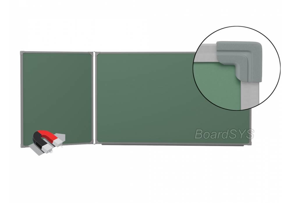 Двухэлементная магнитно-меловая доска доска 120х255 - металлический профиль створка слева