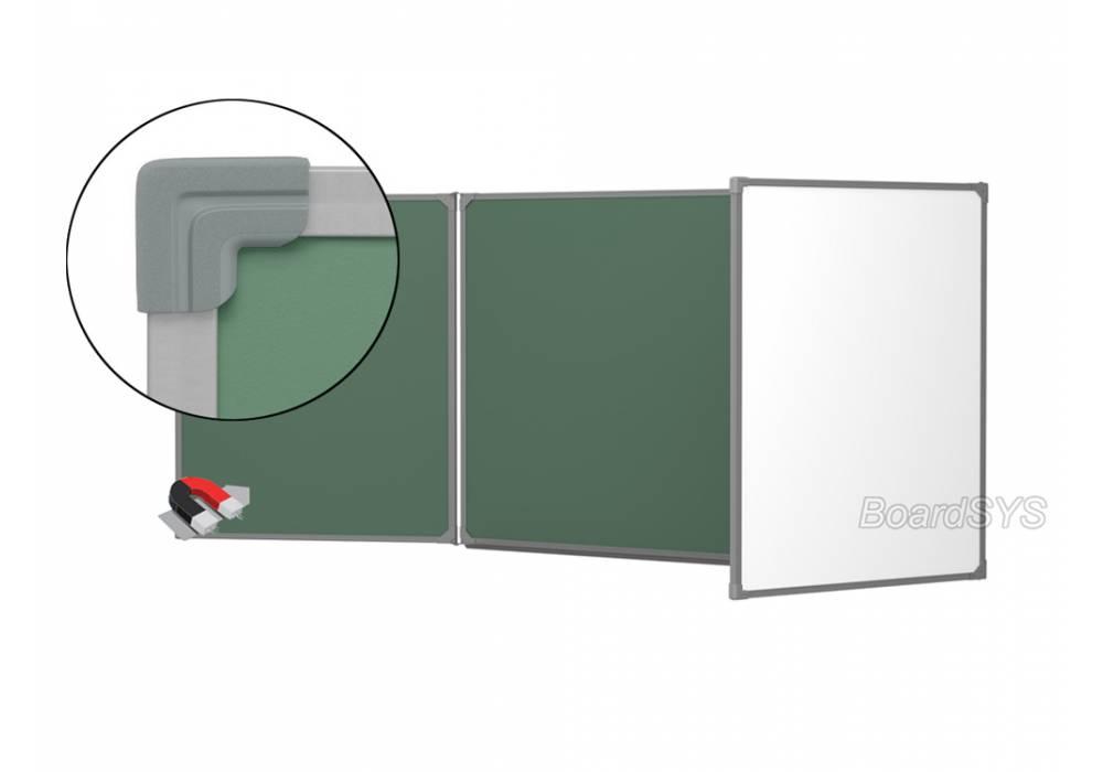 Трехэлементная магнитно-комбинированная доска 100х500 - металлический профиль