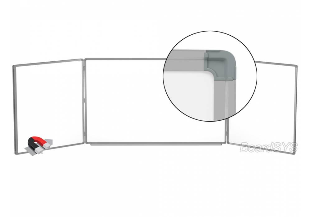 Трехэлементная магнитно-маркерная доска 100х350 - алюминиевый профиль