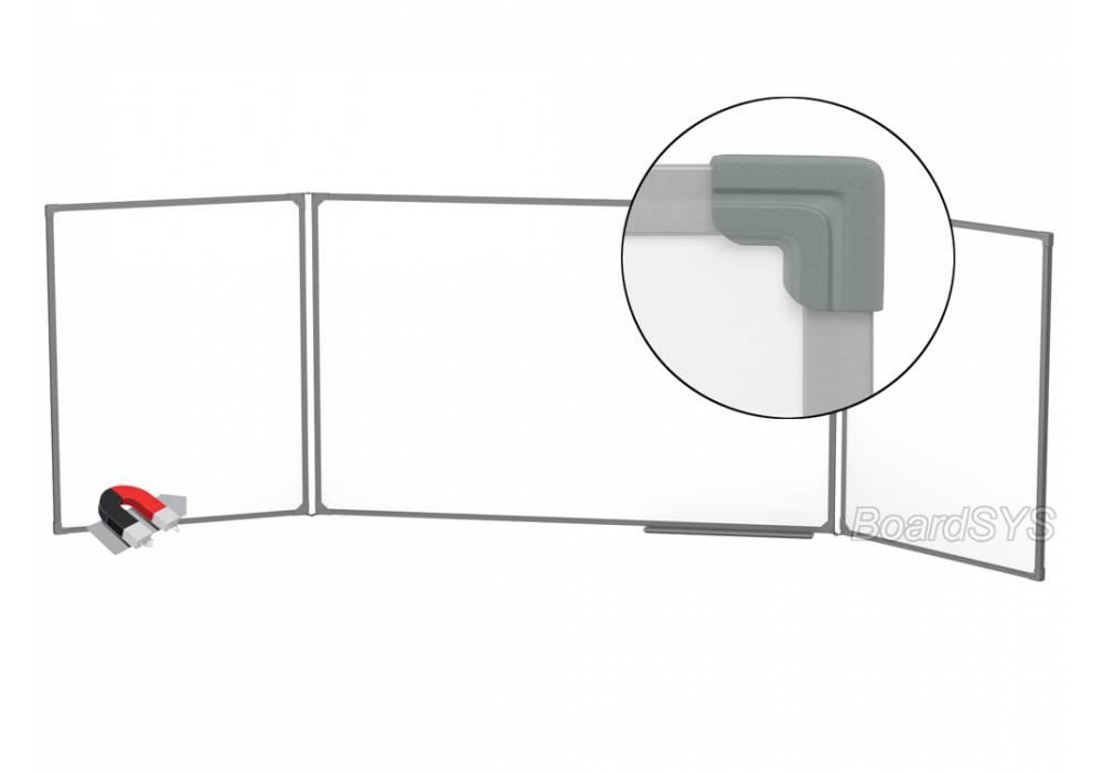 Трехэлементная магнитно-маркерная доска 100х400 - металлический профиль