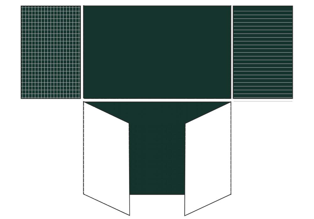 Разлинованная пятиэлементная магнитно-комбинированная доска 120х320 - металлический профиль