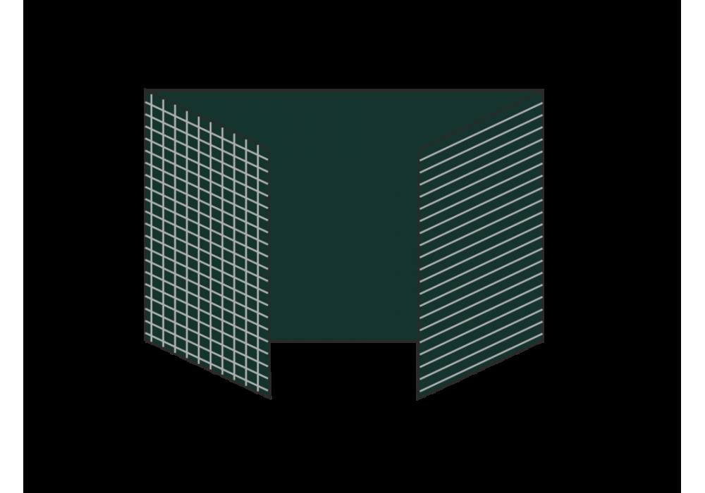 Разлинованная трехэлементная магнитно-меловая доска 100х300 - металлический профиль