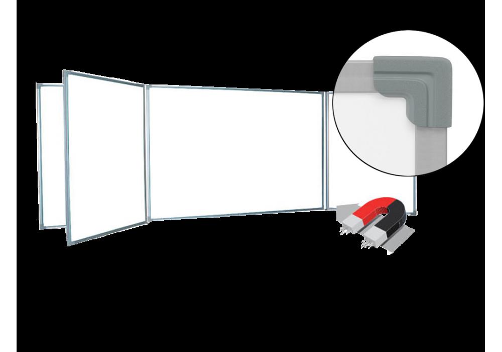 Пятиэлементная магнитно-маркерная доска 100х340