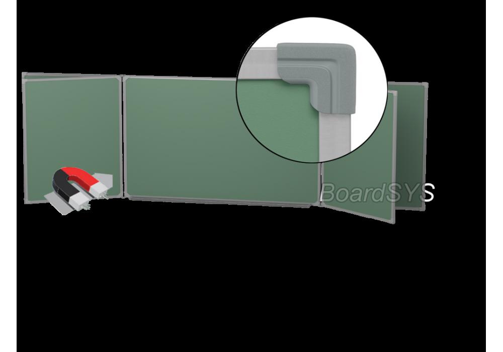 Пятиэлементная магнитно-меловая доска доска 100х400