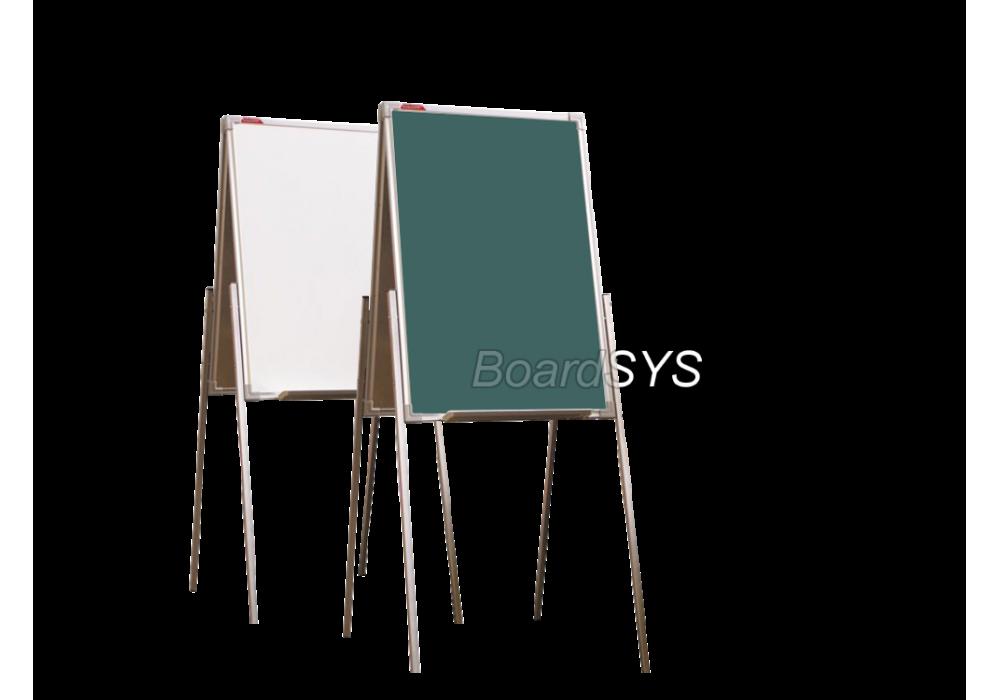 Мольберт домик двухсторонний комбинированный 75х50 - металлический профиль