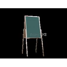 Мольберт домик двухсторонний меловой 75х50 - металлический профиль