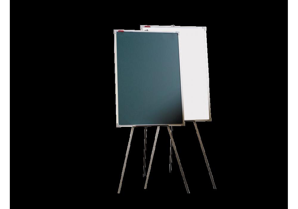 Мольберт тренога двухсторонний комбинированный 100х70 - металлический профиль