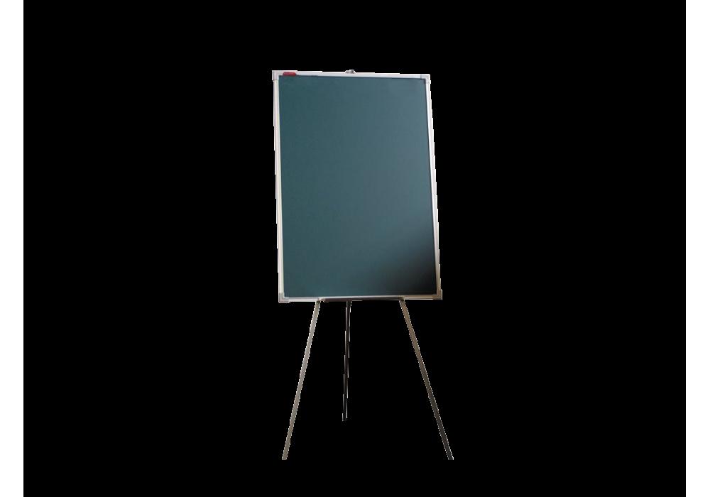 Мольберт тренога односторонний меловой 100х70 - металлический профиль
