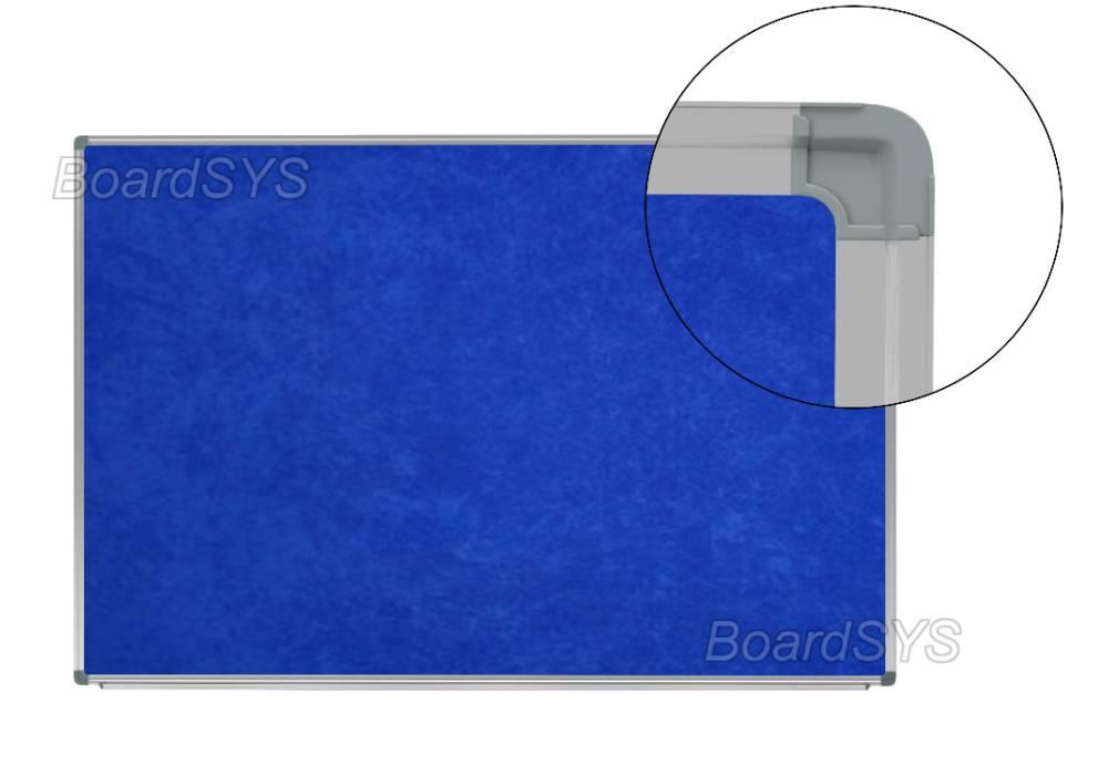 Текстильная доска синяя 100х60 - алюминиевый профиль