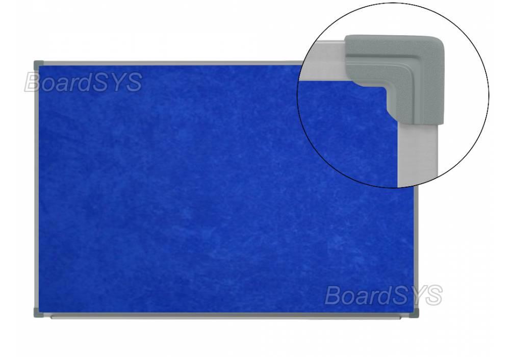 Текстильная доска синяя 100х60 - металлический профиль