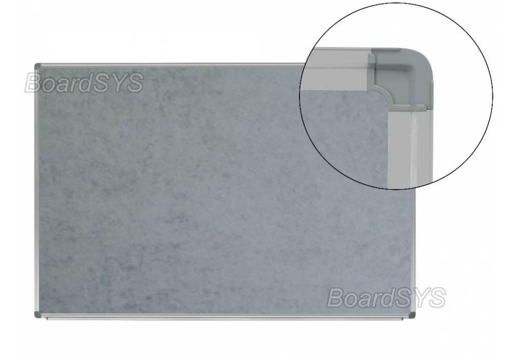 Текстильная доска серая 100х120 - алюминиевый профиль