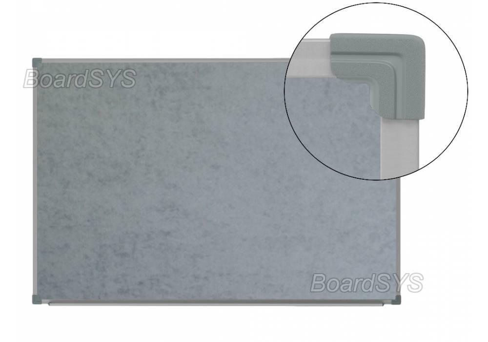 Текстильная доска серая 100х60 - металлический профиль