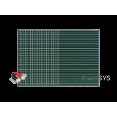 Разлинованная одноэлементная магнитно-меловая доска 100х150 - алюминиевый профиль
