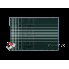 Разлинованная одноэлементная магнитно-меловая доска 100х150 - металлический профиль