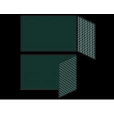 Разлинованная двухэлементная магнитно-меловая доска 100х225 - алюминиевый профиль створка справа