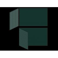 Разлинованная двухэлементная магнитно-меловая доска 100х225 - алюминиевый профиль створка слева