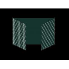 Разлинованная трехэлементная магнитно-меловая доска 100х300 - алюминиевый профиль