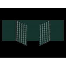 Разлинованная пятиэлементная магнитно-меловая доска 100х300 - металлический профиль