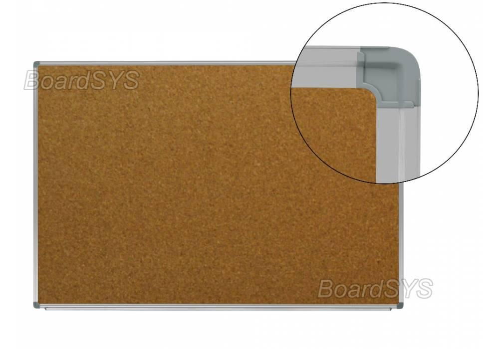 Пробковая доска 90х120 - алюминиевый профиль